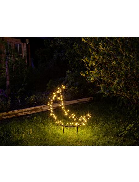 CASAYA LED-Gartenstecker »Garden d'light«, mondförmig, Höhe: 75,5 cm, Netzbetrieb