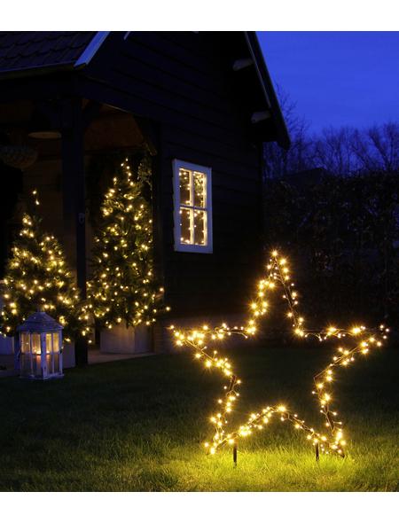CASAYA LED-Gartenstecker »Garden d'light«, sternförmig, Höhe: 135 cm, Netzbetrieb
