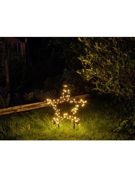 CASAYA LED-Gartenstecker »Garden d'light«, sternförmig, Höhe: 73 cm, Netzbetrieb