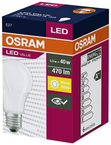 OSRAM LED-Leuchtmittel, 10 W, E27, 2700 K, warmweiß, 806 lm