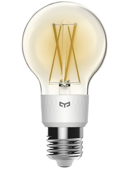 YEELIGHT LED-Leuchtmittel, 6 W, E27, 2700 K, weiß, 35–700 lm