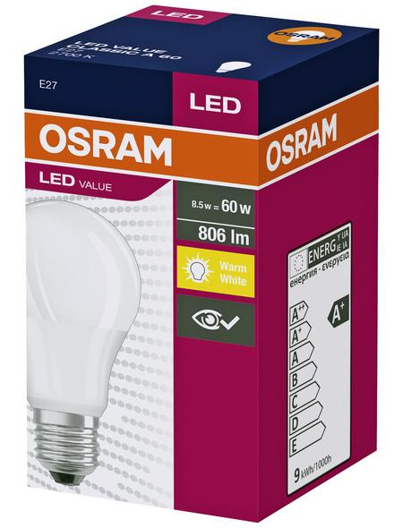 OSRAM LED-Leuchtmittel, 6 W, E27 LED, 2700 K, warmweiß