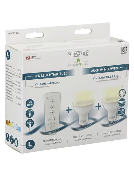 SCHWAIGER LED-Leuchtmittel »HOME4YOU«, 4,8 W, GU10, 2700 K, 350 lm