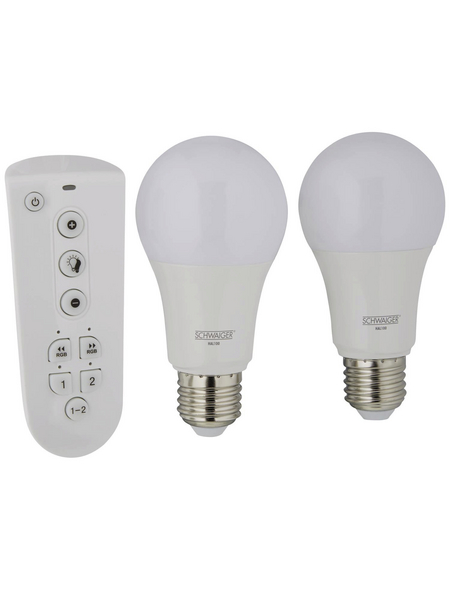 SCHWAIGER LED-Leuchtmittel »HOME4YOU«, 9 W, E27, 2700 K, warmweiß, 806 lm