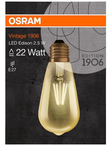 OSRAM LED-Leuchtmittel »Vintage 1906«, 2,5 W, E27, 2500 K, warmweiß, 225 lm