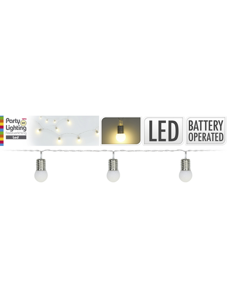 LED-Lichterkette, warmweiß, Kabellänge: 30 m