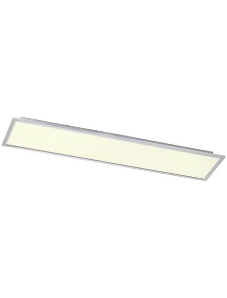 wofi® LED Panel silberfarben 1-flammig, dimmbar, inkl. Leuchtmittel in warmweiß