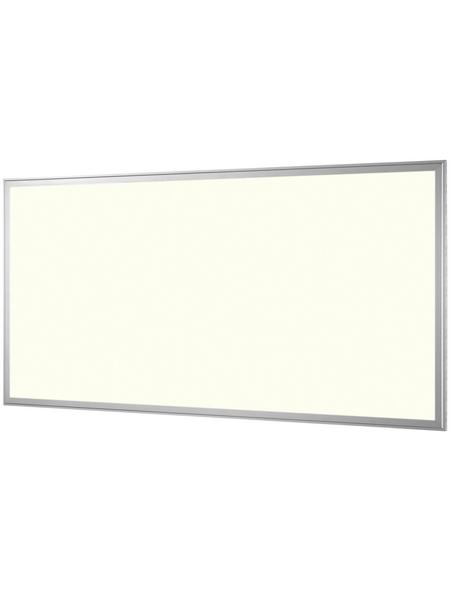 NÄVE LED Panel weiss/stahlfarben 1-flammig, inkl. Leuchtmittel in warmweiß