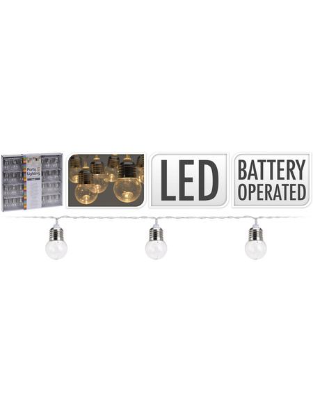LED-Partylichterkette, warmweiß, Kabellänge: 30 m