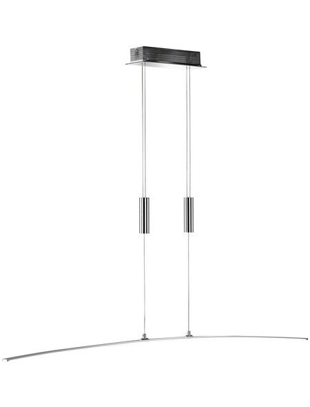 wofi® LED-Pendelleuchte chromfarben 1-flammig, inkl. Leuchtmittel in warmweiß