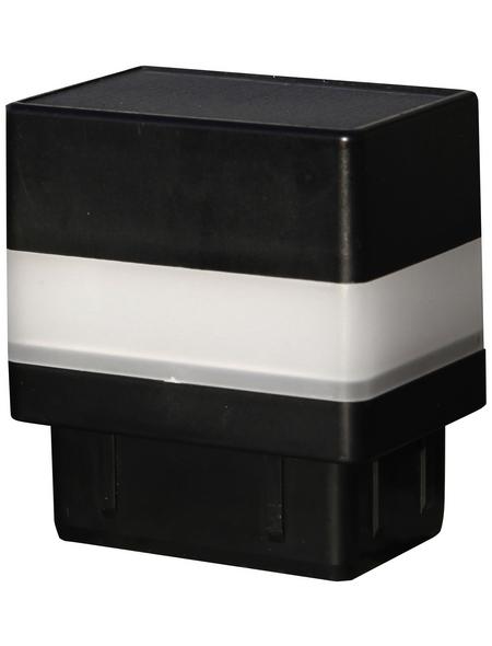 FLORAWORLD LED-Pfostenkappe, BxHxT: 6,5 x 7,1 x 4,5 cm, schwarz, für Vierkant-Zaunpfosten in 60 x 40 mm