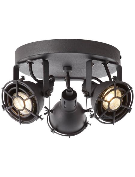 BRILLIANT LED-Rondell schwarz, inkl. Leuchtmittel