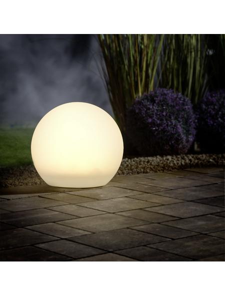 LED-Solarleuchte, kugelförmig, weiß