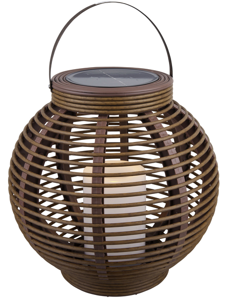 LED-Solarleuchte, rund, taupe