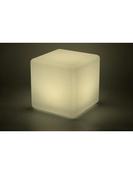 LED-Solarleuchte, würfelförmig, weiß