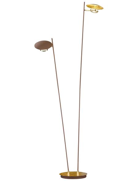wofi® LED-Standleuchte »NOGAN« goldfarben, 2-flammig, H: 150 cm,  inkl. Leuchtmittel in Warmweiß