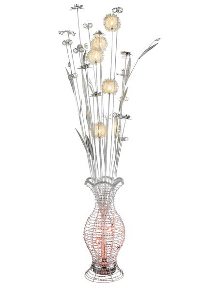 GLOBO LIGHTING LED-Stehleuchte »ANTON« silber-metallic, 6-flammig, H: 148 cm, G4 inkl. Leuchtmittel