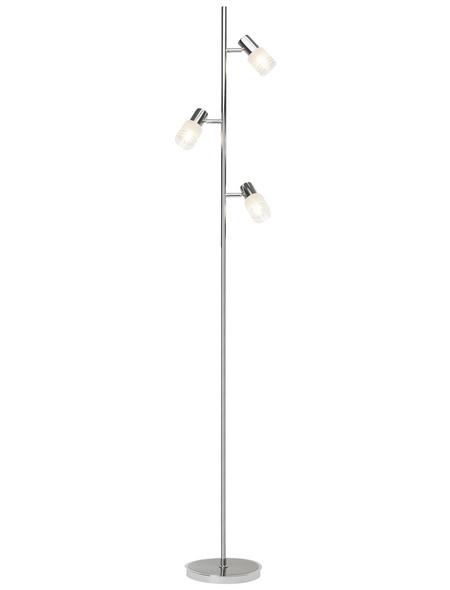 BRILLIANT LED-Stehleuchte »Lea« chromfarben/eisen, 3-flammig, H: 160 cm, E14 inkl. Leuchtmittel in Warmweiß