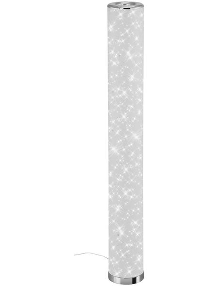 BRILONER LED-Stehleuchte weiß/chromfarben mit 12 W, H: 103,5 cm,  inkl. Leuchtmittel in Warmweiß