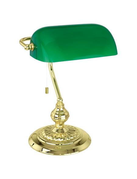 EGLO LED-Tischleuchte »BANKER« gruen/messingfarben, H: 39 cm, E27 ohne Leuchtmittel