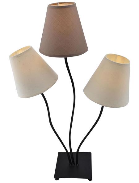 NÄVE LED-Tischleuchte »Boho« braun/beige, 3-flammig, Schirm-Ø x H: 16 x 67 cm, E14 inkl. Leuchtmittel