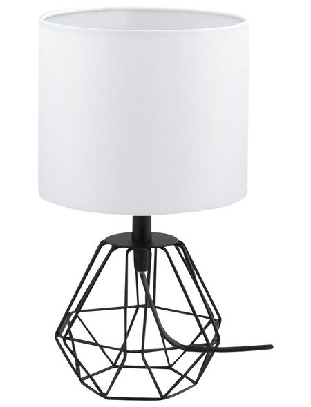 EGLO LED-Tischleuchte »CARLTON 2« weiß/schwarz, H: 30,5 cm, E14 ohne Leuchtmittel