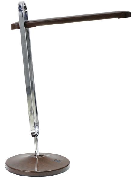 NÄVE LED-Tischleuchte »ClipClap« silberfarben/braun, H: 40 cm,  inkl. Leuchtmittel in Warmweiß