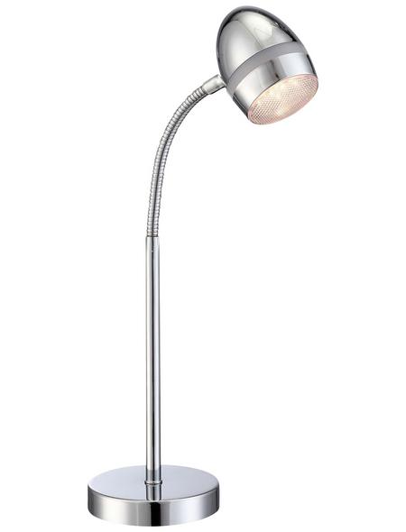 GLOBO LIGHTING LED-Tischleuchte »MANJOLA« chromfarben, H: 43 cm, LED inkl. Leuchtmittel in Warmweiß