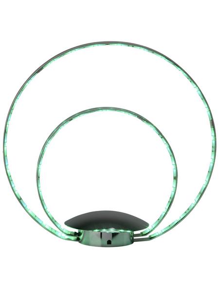 BRILLIANT LED-Tischleuchte »Melina« chromfarben mit 11 W, H: 31,00 cm, Integrierte LED inkl. Leuchtmittel in RGB (mehrfarbig)