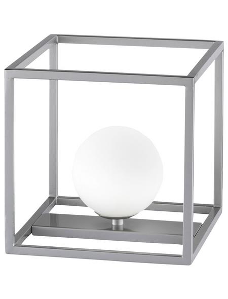 wofi® LED-Tischleuchte nickelfarben, H: 20 cm, G9 inkl. Leuchtmittel in Warmweiß