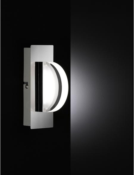 wofi® LED-Wandleuchte chromfarben 1-flammig, inkl. Leuchtmittel in warmweiß
