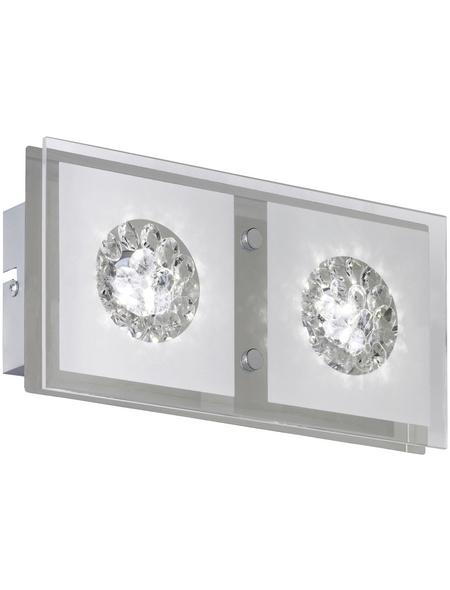 wofi® LED-Wandleuchte chromfarben 2-flammig, inkl. Leuchtmittel in warmweiß