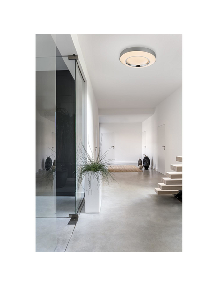 GLOBO LIGHTING LED-Wandleuchte »DECKENLEUCHTE METALL GRAU, 1XLED« grau 1-flammig, dimmbar, inkl. Leuchtmittel