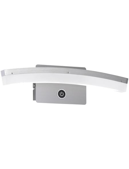 wofi® LED-Wandleuchte nickelfarben 1-flammig, dimmbar, inkl. Leuchtmittel in warmweiß