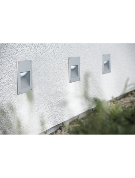 PAULMANN LED-Wandleuchte »Special Line Wall LED IP44 2,4W Titan« silberfarben 1-flammig, inkl. Leuchtmittel in tageslichtweiß