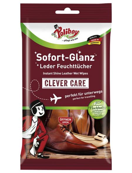 POLIBOY Leder-Feuchttücher, 10 Stk.