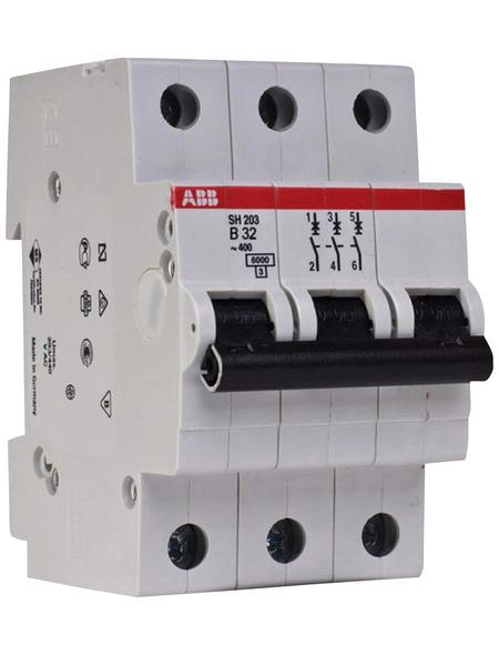 ABB Leitungsschutzschalter, 3-polig, für Leitungen mit einem Querschnitt bis 35 mm², B, 32 A