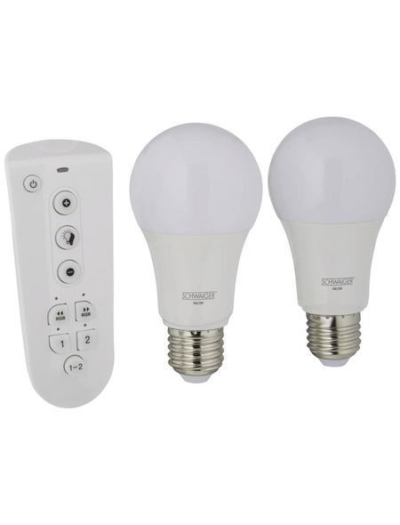 SCHWAIGER Leuchtmittel »HOME4YOU«, 9 W, E27, 2700 – 6500 K, warmweiß/tageslichtweiß/neutralweiß, 806 lm