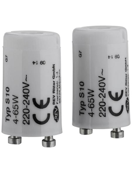 REV Leuchtstofflampen-Starter, Kunststoff, weiß, 2 Stück