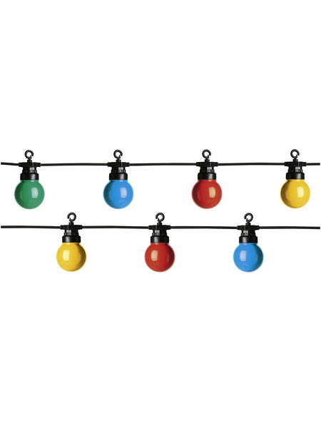 LUMINEO Lichterkette »Multi Twinkle Start«, mehrfarbig, Netzbetrieb, Kabellänge: 5 m