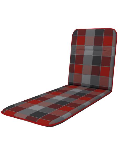 DOPPLER Liegenauflage »Basic«, rot/schwarz, kariert, BxL: 59 x 190 cm