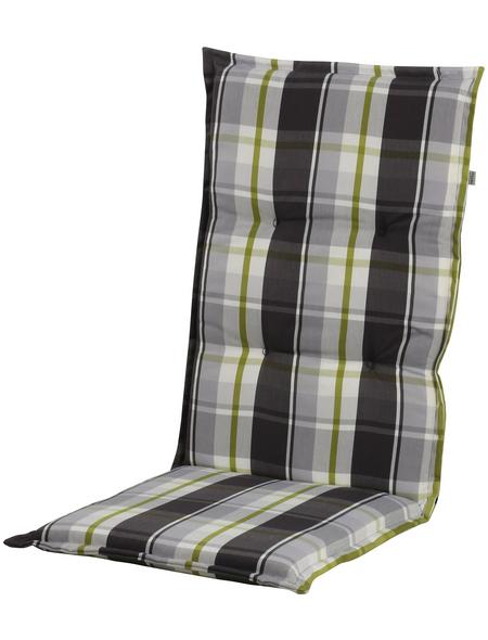 DOPPLER Liegenauflage »Comfort Light«, Kariert, grün/beige/braun, 200 cm x 60 cm