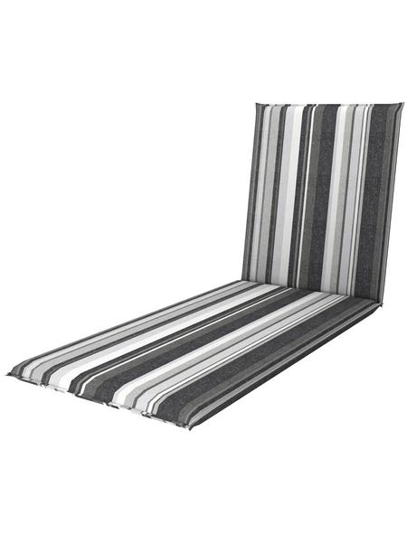 DOPPLER Liegenauflage »Living«, grau/weiss, Streifen, BxL: 60 x 195 cm