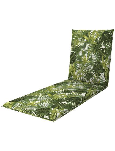 DOPPLER Liegenauflage »Living«, grün, Blätter, BxL: 60 x 195 cm