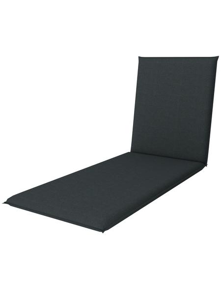 DOPPLER Liegenauflage »Star«, grau, Uni, BxL: 60 x 195 cm