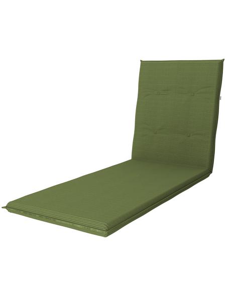DOPPLER Liegenauflage »Star«, grün, Uni, BxL: 60 x 195 cm