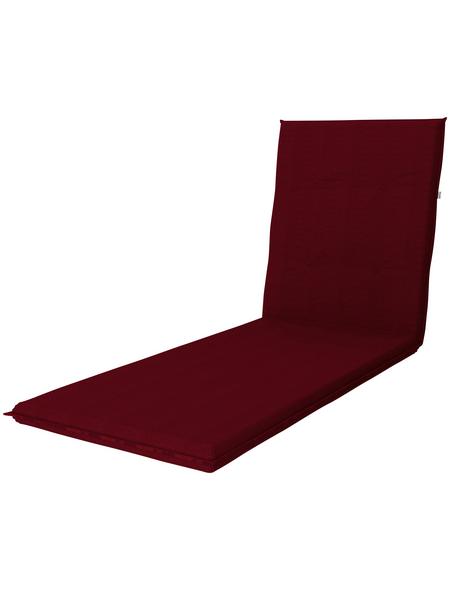DOPPLER Liegenauflage »Star«, rot, Uni, BxL: 60 x 195 cm