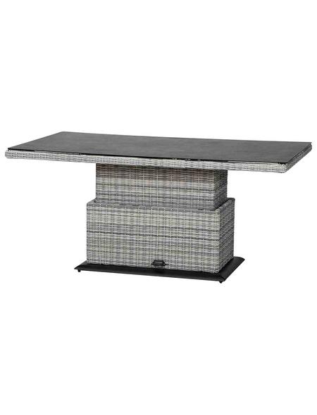 SIENA GARDEN Lifttisch »Soria«, mit Spraystone-Tischplatte