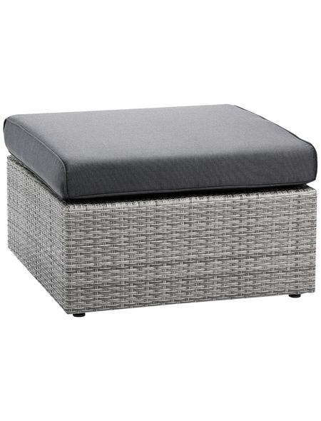 BEST Lounge-Hocker »Bonaire«, Aluminium, inkl. Auflage