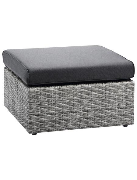 BEST Lounge-Hocker »Bonaire«, BxHxT: 72 x 43 x 72 cm, Polyrattan